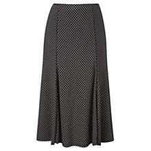 Buy Viyella Petite Floral Skirt, Black Online at johnlewis.com
