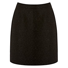 Buy Warehouse Jacquard Skirt, Black Online at johnlewis.com