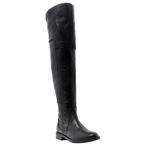 Buy Bertie Torrent Leather Over Knee Boots, Black Online at johnlewis.com