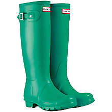 Buy Hunter Original Adjustable Rubber Wellington Tall Boots Online at johnlewis.com
