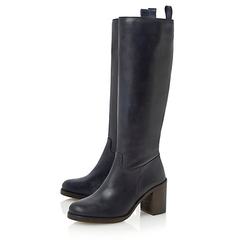 Buy Bertie Tinder Knee Boots, Black Online at johnlewis.com