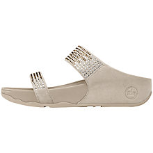 Buy FitFlop Flareslide Sandals, Pebble Online at johnlewis.com