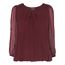 Buy Phase Eight Made in Italy Nina Silk Blouse, Bordeaux Online at johnlewis.com