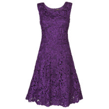 Buy Phase Eight Flavia Ribbon Tape Dress, Blackcurrant Online at johnlewis.com