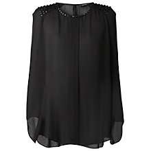 Buy Gérard Darel Sequined Blouse, Black Online at johnlewis.com