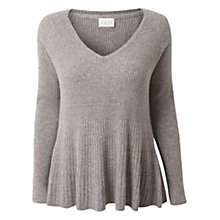 Buy East Swing Rib Jumper, Ash Online at johnlewis.com