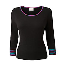 Buy East Zina Crochet Jumper, Graphite Online at johnlewis.com