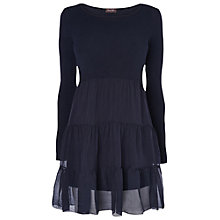 Buy Phase Eight Made in Italy Farrah Frill Tiered Top, Indigo Online at johnlewis.com