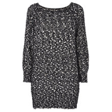 Buy Phase Eight Tory Textured Jumper, Black/Ivory Online at johnlewis.com