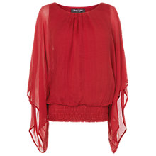 Buy Phase Eight Made in Italy Evangeline Silk Blouse, Scarlet Online at johnlewis.com