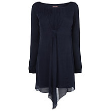Buy Phase Eight Manuela Silk Tunic Top, Navy Online at johnlewis.com