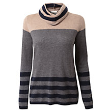 Buy East Stripe Cowl Neck Jumper Online at johnlewis.com