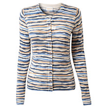 Buy East Jessica Stripe Cardigan, Ivory Online at johnlewis.com