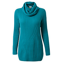 Buy East Cable Cowl Neck Jumper, Peacock Online at johnlewis.com