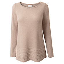 Buy East Cable Swing Jumper, Oatmeal Online at johnlewis.com
