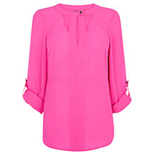 Buy Warehouse Cut Out Blouse, Bright Pink Online at johnlewis.com