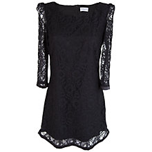 Buy Whistle & Wolf Lace Shift Dress, Black Online at johnlewis.com