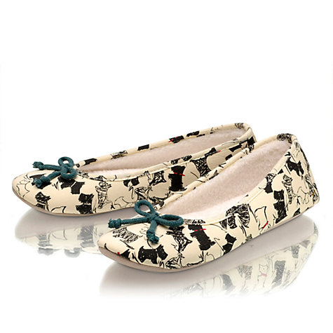 Buy Radley Doodle Dog Ballerina Slippers, Ivory Online at johnlewis.com