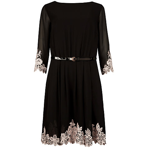 Buy Ted Baker Heavy Lace Embroidered Dress, Black Online at johnlewis.com