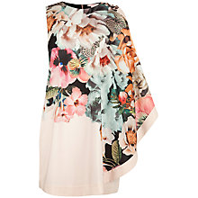 Buy Ted Baker Tangled Floral Printed Tunic Dress, Ivory Online at johnlewis.com