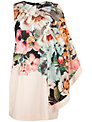 Ted Baker Tangled Floral Printed Tunic Dress, Ivory