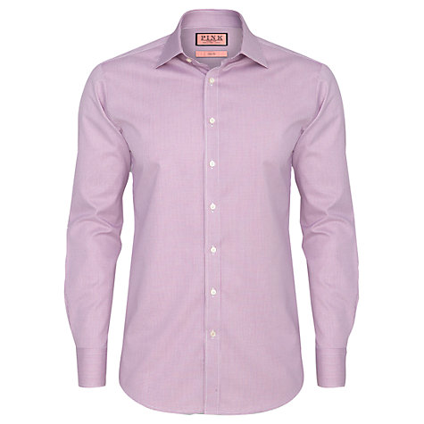 Buy Thomas Pink Kirckpatrick Check Shirt, Pink/White Online at johnlewis.com