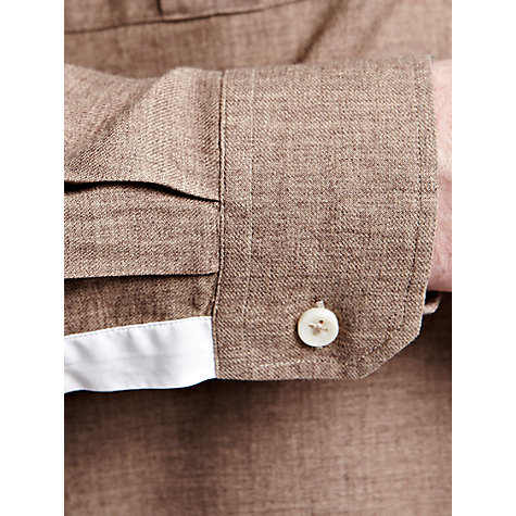 Buy Thomas Pink Webb Plain Shirt, Brown Online at johnlewis.com