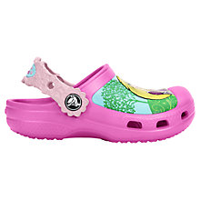 Buy Crocs Kids' Disney Princess Clogs, Pink/Multi Online at johnlewis.com