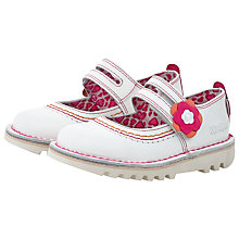 Buy Kickers Duo Stitch Shoes, White/Pink Online at johnlewis.com