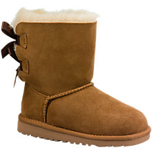 Buy UGG Children's Bailey Bow Boots, Chestnut Online at johnlewis.com