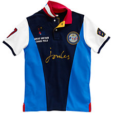 Buy Joules The Canoe Polo Shirt, Black/Blue/White Online at johnlewis.com