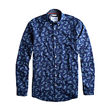 Buy Joules The Eastbury Paisley Long Sleeve Shirt, Navy Online at johnlewis.com