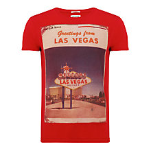 Buy Hilfiger Denim Foto Las Vegas T-Shirt, Tango Red Online at johnlewis.com