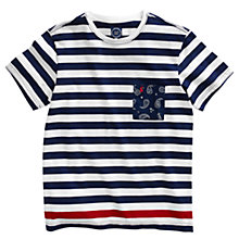 Buy Joules Skipperton Crew Neck T-Shirt, French Navy Stripe Online at johnlewis.com