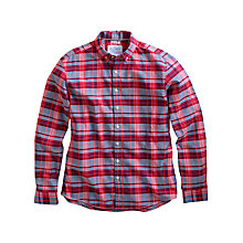 Buy Joules Adley Long Sleeve Check Shirt, Red Online at johnlewis.com