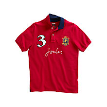 Buy Joules Just Joules Polo Shirt, Red Online at johnlewis.com