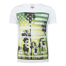 Buy Hilfiger Denim Foto 1 Short Sleeve T-Shirt, White/Yellow Online at johnlewis.com
