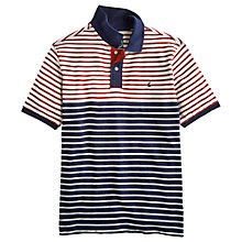 Buy Joules Webster Stripe Polo Shirt, Blue/Red Online at johnlewis.com