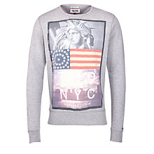 Buy Hilfiger Denim NYC Jersey Sweatshirt, Grey Online at johnlewis.com