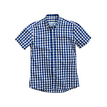 Buy Joules Wilson Short Sleeve Shirt, Blue Check Online at johnlewis.com