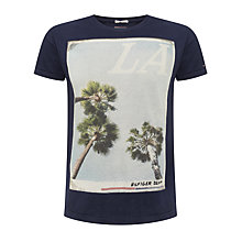 Buy Tommy Hilfiger Foto LA Palm Tree T-Shirt, Navy Online at johnlewis.com
