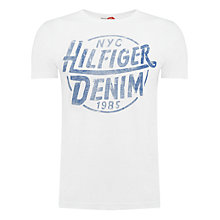 Buy Hilfiger Denim Federer Organic Cotton T-Shirt Online at johnlewis.com
