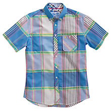 Buy Joules The Wickham Jeffrey Check Shirt, Blue/Grey Online at johnlewis.com