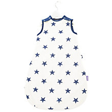 Buy Babasac 2-in-1 Multi Tog Blue Star Baby Sleeping Bag, White/Blue Online at johnlewis.com
