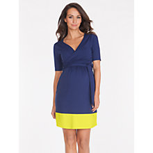 Buy Séraphine Enja Wrap Maternity Dress, Ink/Neon Online at johnlewis.com
