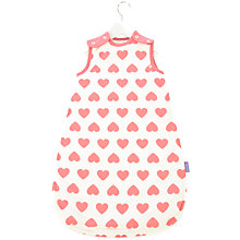 Buy Babasac 2-in-1 Multi Tog Pink Heart Baby Sleep Bag, Pink/White Online at johnlewis.com
