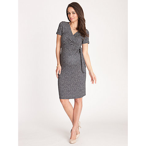 Buy Séraphine Renata Print Short Sleeve Wrap Maternity Dress, Navy Online at johnlewis.com
