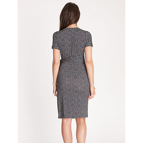 Buy Séraphine Renata Print Short Sleeve Wrap Dress, Navy Online at johnlewis.com