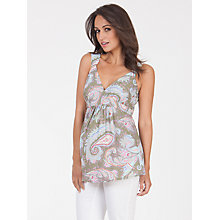 Buy Séraphine Brandi Paisley Maternity Top, Green/Multi Online at johnlewis.com