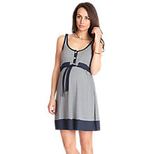 Buy Séraphine Alana Dress, Navy/White Online at johnlewis.com